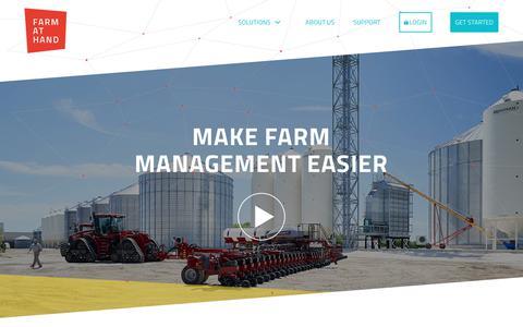 Screenshot of Home Page farmathand.com - Farm at Hand - captured July 13, 2018