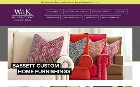 Screenshot of Home Page williamsandkay.com - Williams and Kay » Furniture and Design - captured June 19, 2015