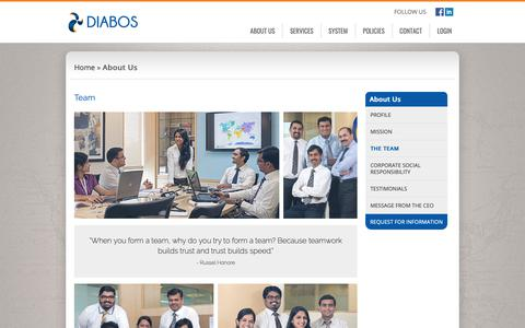 Screenshot of Team Page diabos.biz - Port Cost Management Services - Diabos Team - captured March 27, 2019