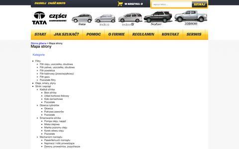 Screenshot of Maps & Directions Page tatamotor.com.pl - Start - sklep internetowy TATA MOTORS POLSKA - captured Nov. 18, 2016
