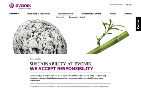 Sustainability at Evonik - Evonik Industries AG