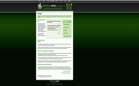 Screenshot of Team Page greenhouse-media.com - Our Team – Greenhouse Media Investment Ltd - captured Oct. 3, 2014