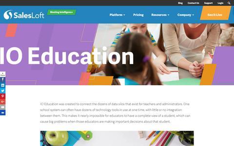 Screenshot of Case Studies Page salesloft.com - IO Education - SalesLoft - captured Sept. 19, 2018