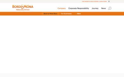 Screenshot of Case Studies Page bordnamona.ie - Innovation Case Studies - Biomass, Biogas, Funding   Bord na Mona - captured Aug. 3, 2018