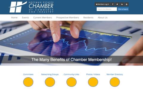 Screenshot of Home Page hechamber.com - Hoffman Estates Chamber of Commerce - captured Sept. 19, 2015