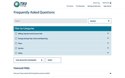 Frequently Asked Questions (FAQ's) | TXU Energy