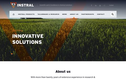 Screenshot of About Page instral.com - Instral | About us - captured Sept. 25, 2018