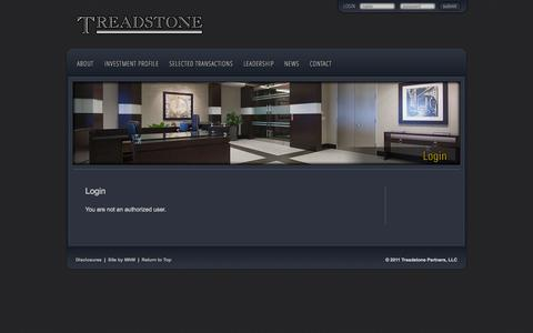Screenshot of Login Page treadstone.com - Login | Treadstone - captured Oct. 7, 2014
