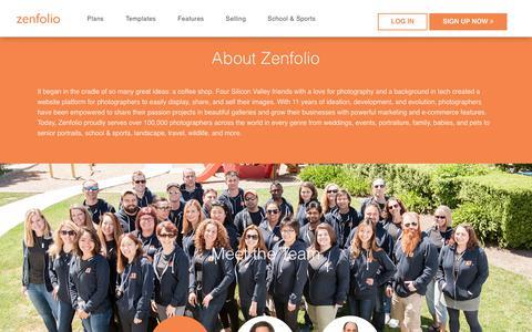 Screenshot of About Page zenfolio.com - About Zenfolio - captured Oct. 11, 2018