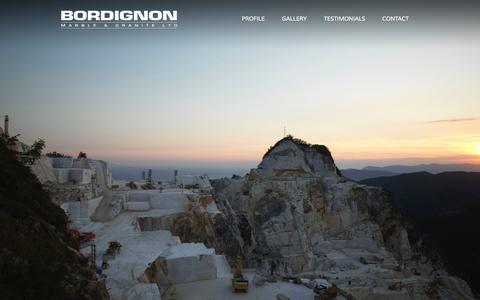 Screenshot of Home Page bordignon.ca - Bordignon Marble & Granite - Homepage - captured Oct. 5, 2014