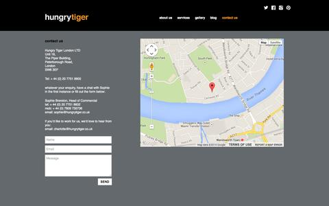 Screenshot of Contact Page hungrytiger.co.uk - contact us » Hungry Tiger - captured Oct. 3, 2014