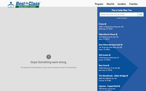 Screenshot of Locations Page bestinclasseducation.com - Locations | Best in Class Education - captured Jan. 13, 2017