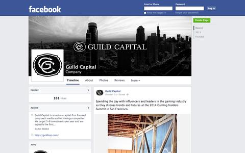 Screenshot of Facebook Page facebook.com - Guild Capital - Chicago, IL - Company | Facebook - captured Oct. 23, 2014