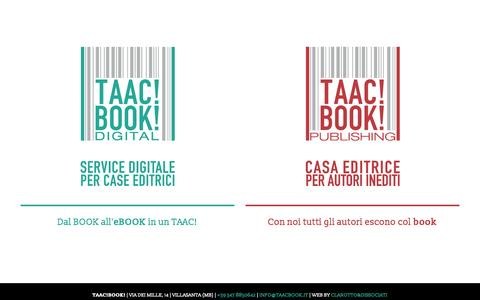 Screenshot of Home Page taacbook.it - TAAC!BOOK! Digital Service & Publishing - captured Aug. 12, 2015