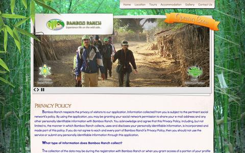 Screenshot of Privacy Page bambooranch.in - Privacy Policy | Bamboo Ranch - captured Dec. 29, 2015