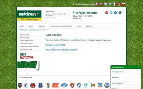 Screenshot of Case Studies Page matchsaver.com - Case Studies - Matchsaver - captured Oct. 17, 2018