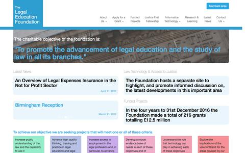 The Legal Education Foundation | To promote the advancement of legal education and the study of law in all its branches