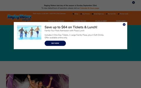 Screenshot of Press Page ragingwaters.com - In the News | Raging Waters Los Angeles - captured Sept. 23, 2018