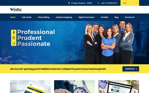 Call center|Photo editing|Graphic design|eBook conversion | Winbizsolutions