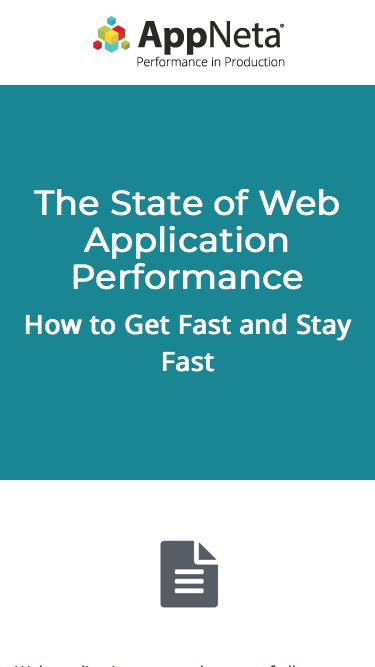 The State of Web Application Performance