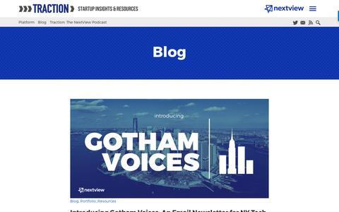 Screenshot of Blog nextviewventures.com - Blog Archives - NextView Ventures - captured April 17, 2017