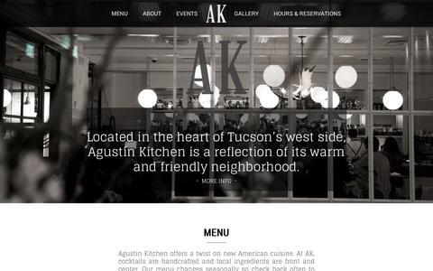Screenshot of Home Page agustinkitchen.com - Agustin Kitchen - captured July 29, 2018