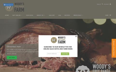 Screenshot of Home Page woodysfarm.co.nz - Woody's Free Range Farm | Producers of premium free range pork. - captured Oct. 25, 2017