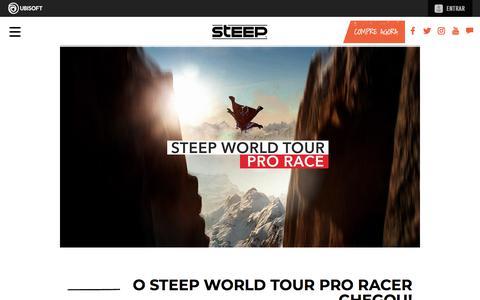 Screenshot of Press Page ubisoft.com - O Steep World Tour Pro Racer chegou! | Steep - Disponível agora para PS4, Xbox One & PC | Ubisoft (BR) - captured Nov. 8, 2019
