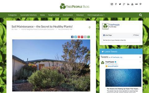 Screenshot of Blog treepeople.org - TreePeople Blog | Home - captured Nov. 14, 2018