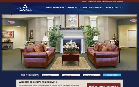 Screenshot of Home Page capitalsenior.com - Assisted Living Communities | Senior Living Communities | Capital Senior Living - captured Oct. 1, 2014