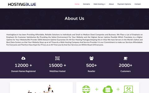 Screenshot of About Page hostingblue.in - India's Most Prefered Web Hosting Company - Hosting BLUE - captured Sept. 29, 2018