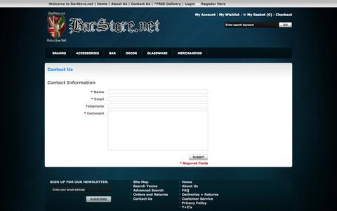 Screenshot of Contact Page gostorego.com - Contact Us - captured Oct. 31, 2014