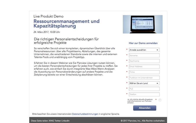 Planview Live Produktdemo   Ressourcenmanagement und Kapazitätsplanung