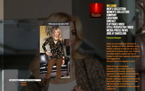 Screenshot of Home Page barcelino.com - Pure Style, Welcome to All New Barcelino - captured Sept. 30, 2014
