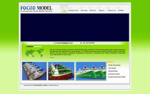 Screenshot of Home Page focod.com - Focod Model Limited|Focod Model|FocodModel - captured Oct. 6, 2014