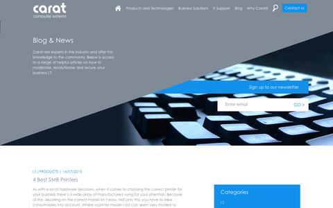 Screenshot of Blog carat.uk.com - Carat Computer Systems - Blog - captured Jan. 25, 2016