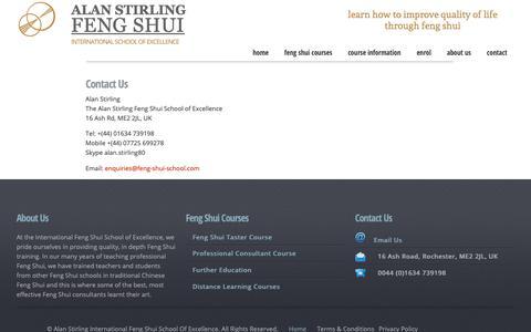 Screenshot of Contact Page feng-shui-school.com - Contact Feng Shui School - captured Oct. 30, 2018