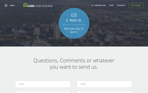 Contact | Inside Real Estate | Lead Generation + Websites + CRM + Reporting + Powerful Performance