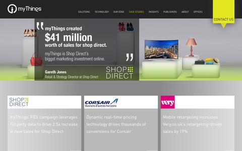 Screenshot of Case Studies Page mythings.com - Case Studies �  myThings - captured Nov. 24, 2015