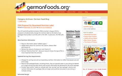 Screenshot of Blog germanfoods.org - German Food Blog Archives - Germanfoods.orgGermanfoods.org - captured Oct. 1, 2014