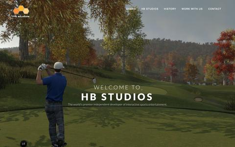 Screenshot of Home Page hb-studios.com - HB Studios | Creating great video games since 2000 - captured Dec. 4, 2015