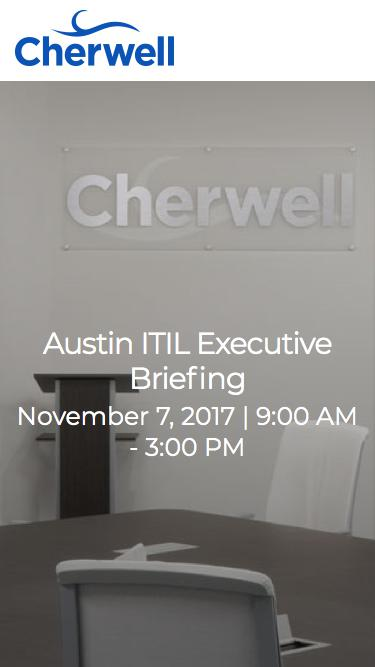Event | 2017 ITIL Executive Briefing in Austin