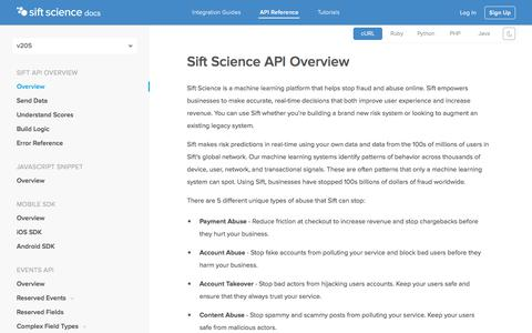 Fraud Detection Service Integration Docs | Sift Science