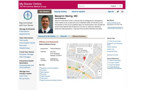 Offices and Directions |  benjaminmaring | Clinician | My Doctor Online