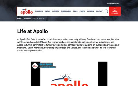 Screenshot of Team Page apollo-fire.co.uk - Life at Apollo Fire Detectors, Havant, Hampshire, UK - captured Aug. 17, 2019