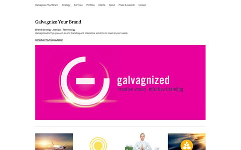 Screenshot of Home Page galvagnize.me - Brand Strategy . Design . Technology - captured Oct. 2, 2014