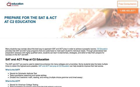 Screenshot of c2educate.com - Prepare for the SAT & ACT at C2 Education - captured May 17, 2017