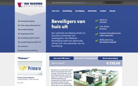 Screenshot of Home Page Site Map Page vanwakeren.nl - Advies en realisatie voor veiligheid en beveiliging - Van Wakeren Beveiliging - captured Oct. 7, 2014