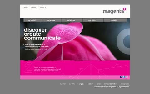Screenshot of Home Page magentaconsult.com - Welcome to Magenta Consulting Limited! - captured Oct. 4, 2014