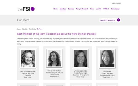 Screenshot of Team Page thefsi.org - Our Team | theFSI - captured Oct. 26, 2014